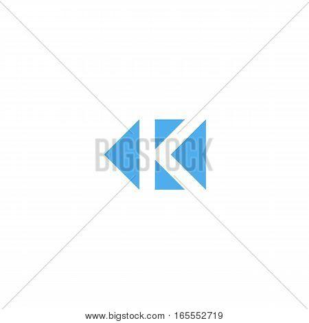 Letter K Logo Triangle Geometric Shape, Minimal Style Design Element Mockup, Branding Mark Template,