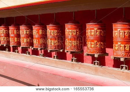 Buddhist prayer wheels Nepal Religious prayer wheels