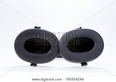 Earmuffs for ear or hearing protection isolated on white background