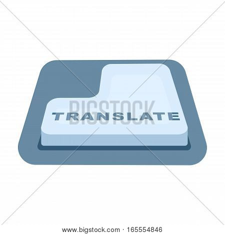 Translate button icon in cartoon design isolated on white background. Interpreter and translator symbol stock vector illustration.