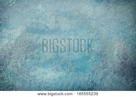 background blue transparent ice with a vignetting