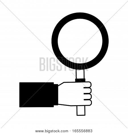 search magnifying glass icon vector illustration design