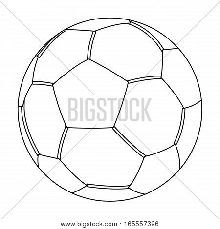 Green soccer ball icon in outline design isolated on white background. Brazil country symbol stock vector illustration.