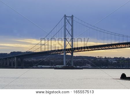 the long view of the Forth Road Bridge