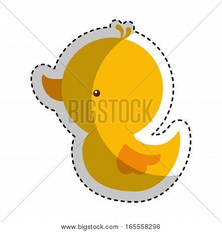 ducky toy isolated icon vector illustration design