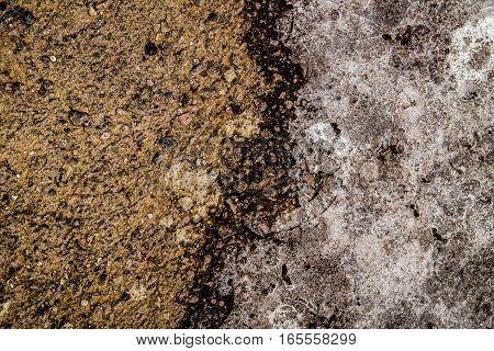 Asphalt, asphalt and ice, scabrous asphalt background
