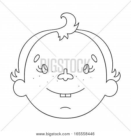 Son icon in outline design isolated on white background. Family holiday symbol stock vector illustration.