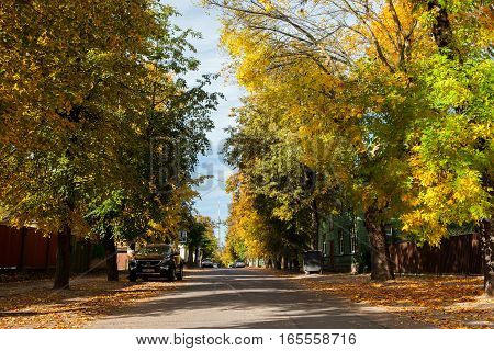 Calm And Picturesque Street In Zverynas District In Vilnius, Lithuania