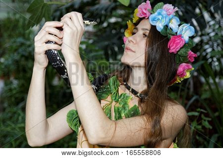 Young Girl With Snake