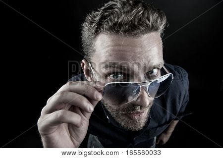 Fashionable Bearded Man In Glasses