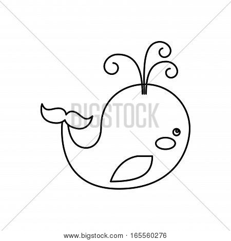 cute whale toy isolated icon vector illustration design
