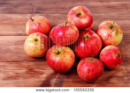 A bunch of red apples fresh harvest