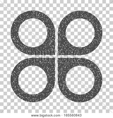 Air Drone grainy textured icon for overlay watermark stamps. Flat symbol with dirty texture. Dotted vector gray ink rubber seal stamp with grunge design on a white background.