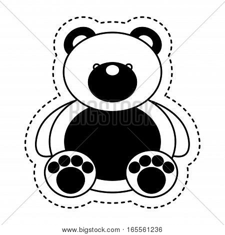 bear teddy toy isolated icon vector illustration design