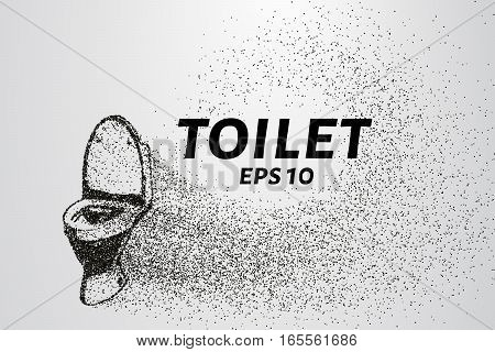 The toilet of the particles. The toilet consists of dots and circles. Vector illustration.