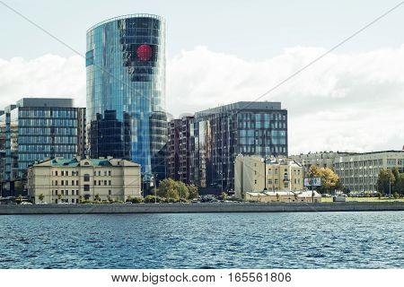 Saint Petersburg Russia September 08 2016:  the business centre on the embankment of the river Neva in Saint-Petersburg Russia