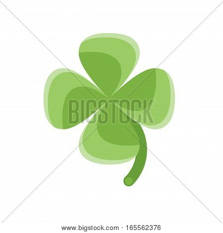 Vector flat style illustration of clover. Isolated on white background. Icon for web.
