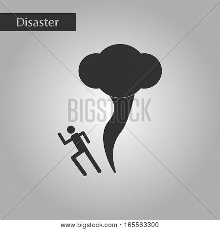 black and white style icon of tornado human