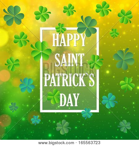 Vector Illustration of a St. Patrick's Day Background, card