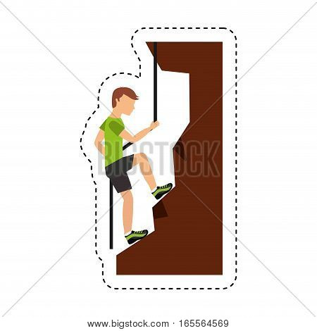 climbing extreme sport icon vector illustration design