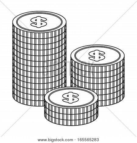 Money donation icon in outline design isolated on white background. Charity and donation symbol stock vector illustration.
