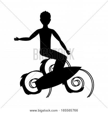 surf boarding extreme sport vector illustration design