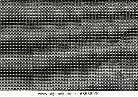 Empty LED digital information matrix close up. Background