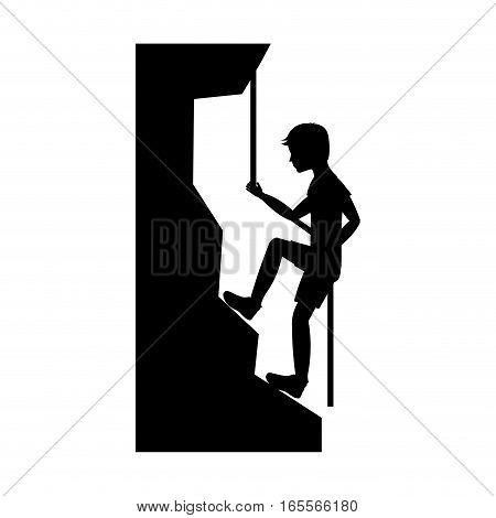 climbing extreme sport icon vector illustration design