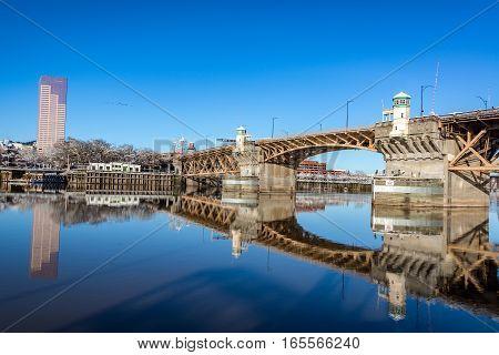 Burnside Bridge Reflection