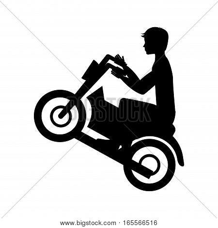 quad motorcycle extreme sport vector illustration design