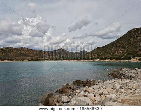 Punta Molentis - Sardinia - Italy - seaside and the beach