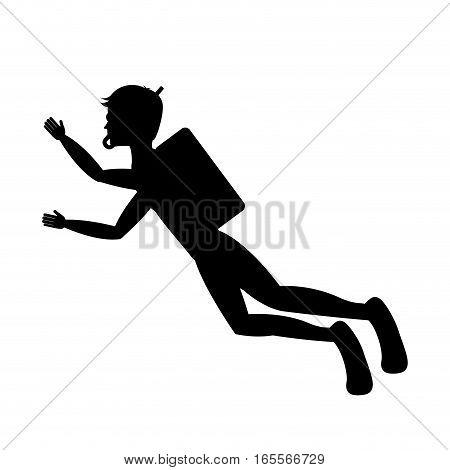 diving extreme sport icon vector illustration design