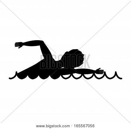 swimming competition sport icon vector illustration design