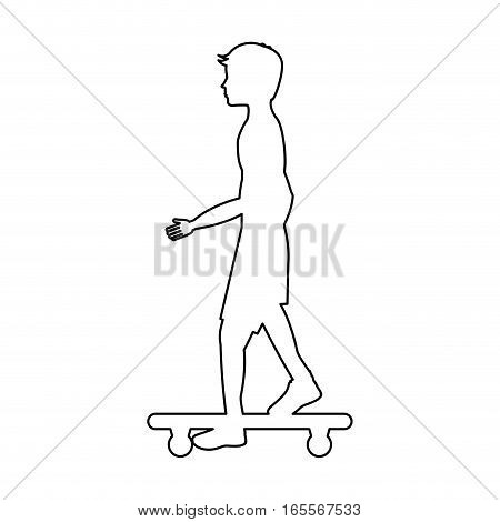 skate board extreme sport vector illustration design