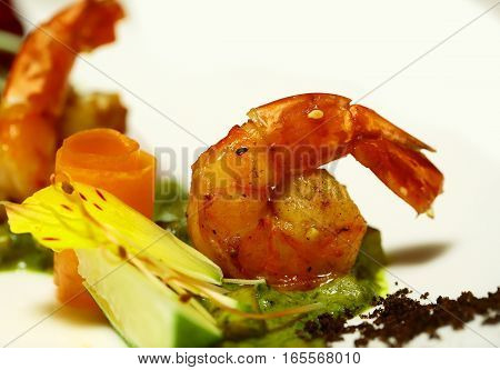 Grilled Shrimps Or Prawns