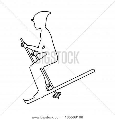 snow ski extreme sport vector illustration design
