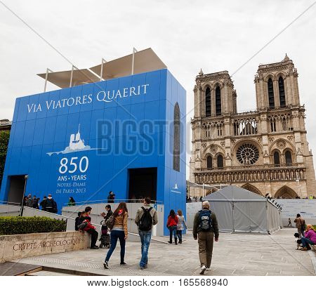 Notre Dame In Paris Celebrates 850 Years.