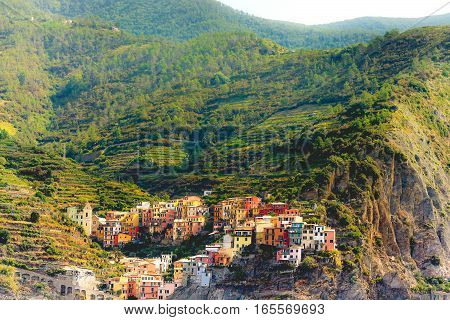 Cinque Terre Italy picturesque architecture between nature landscape photography.