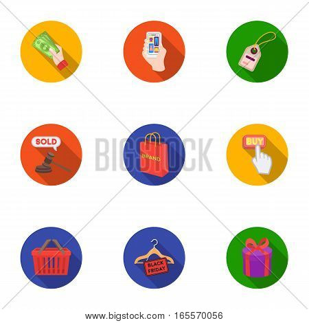 E-commerce set icons in flat style. Big collection of e-commerce vector symbol stock