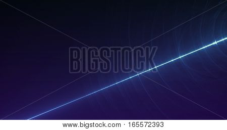 Abstract fractal and glowing laser beams multicolor art background texture for imagination, creativity and design.