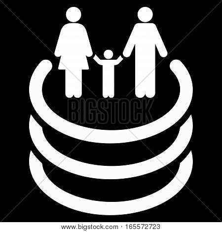 Family Portal vector icon. Flat white symbol. Pictogram is isolated on a black background. Designed for web and software interfaces.