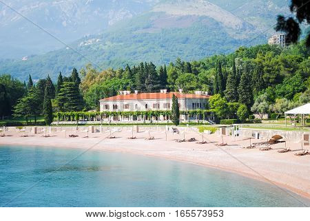 Royal Cozy Beach On The Coast Of Montenegro.