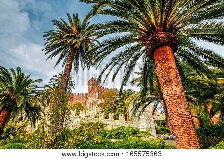 Italy Genoa old historic castle landmark Castello d'Albertis.