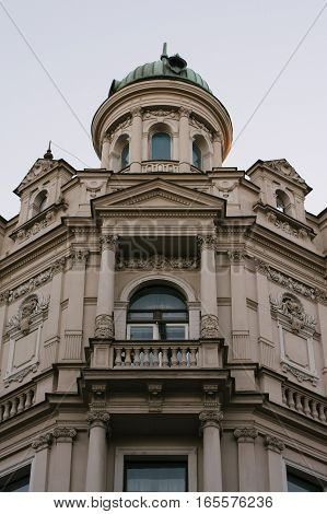 Massive buiding in old town, prague czech republic