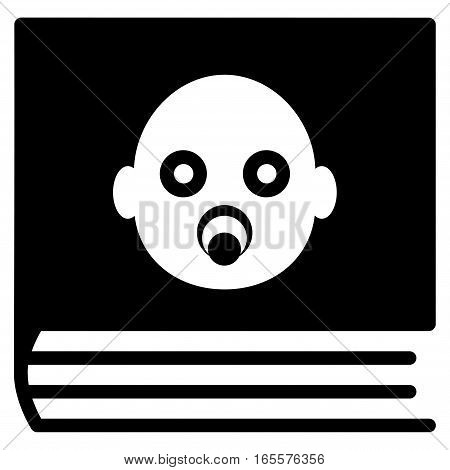 Baby Album vector icon. Flat black symbol. Pictogram is isolated on a white background. Designed for web and software interfaces.