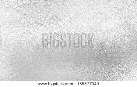 Silver background from metal foil on cardboard decorative texture