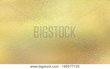 Gold background from metal foil on cardboard decorative texture