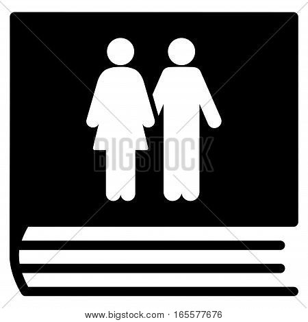 Family Album vector icon. Flat black symbol. Pictogram is isolated on a white background. Designed for web and software interfaces.