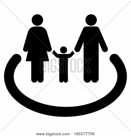 Family Area vector icon. Flat black symbol. Pictogram is isolated on a white background. Designed for web and software interfaces.