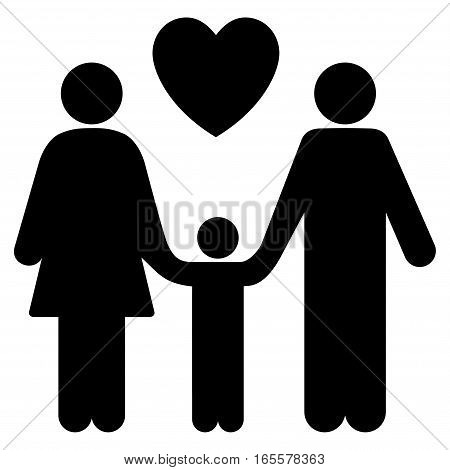 Family Love vector icon. Flat black symbol. Pictogram is isolated on a white background. Designed for web and software interfaces.